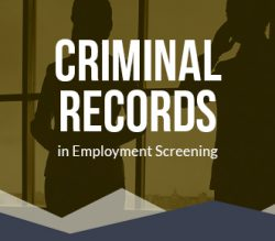 criminal records in employment screening