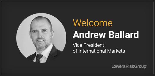 Welcome Andrew Ballard, Vice President of International Markets
