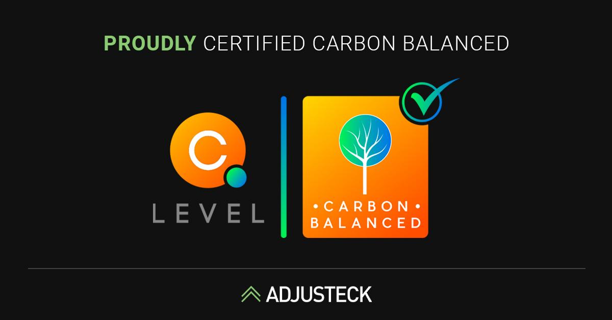 PROUDLY Certified Carbon Balanced Adjusteck